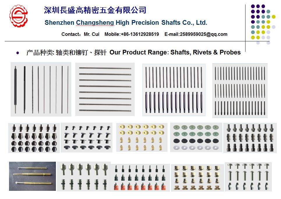 precision shaft, rivet, brace, standard component, connector etc.
