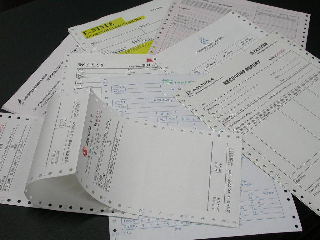 printed carbonless paper invoice book offset paper and other paper