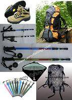 Mountaineering products, alpenstock, mountaineering bags