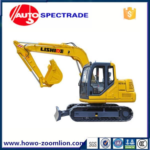7 ton excavator China Lishide SC70.8 low price