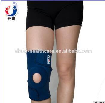 High elastic Waterproof neoprene adjustable blue knee support brace