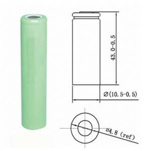 Custom Small NI-MH AAA 600mah/500mah 1.2V Rechargeable Battery