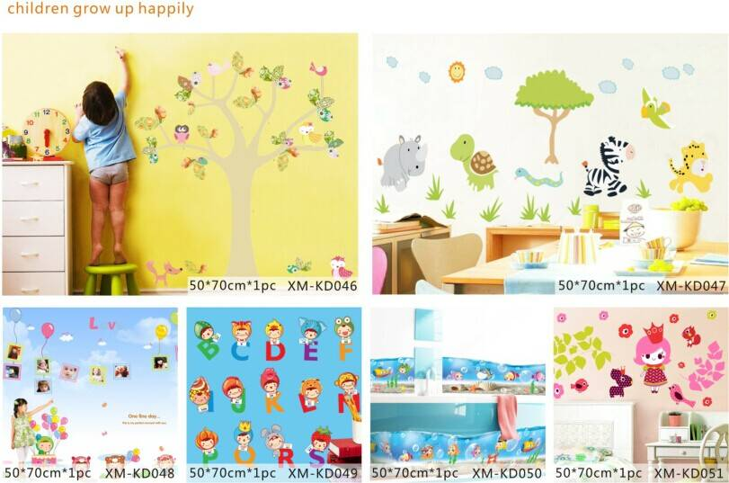 Cute Letter Printed Home Decorative Kids Wall Sticker