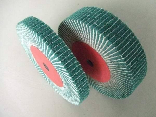 Interleaf Finishing Flap Brushes, flap wheel with sand cloth/sand paper, Interleaved flap wheel.