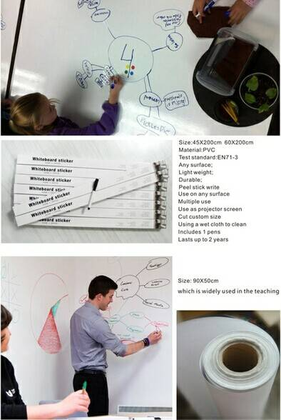 Printed Home Decorative Wall PP/PVC Whiteboard Sticker