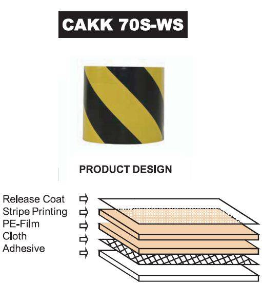 Warning Cloth Tape (CAKK 70S-WS)