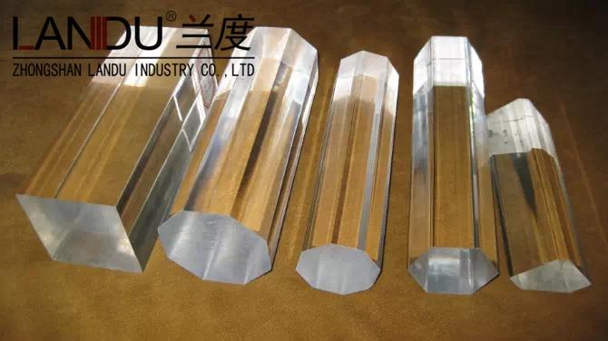 High quality transparent acrylic octagonal rods acrylic octagonal bars acrylic octagonal sticks