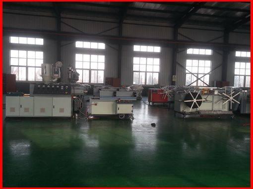 PE/PP single wall corrugated pipe production machine