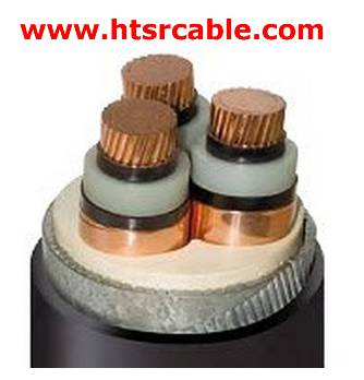 3 cores medium voltage cable