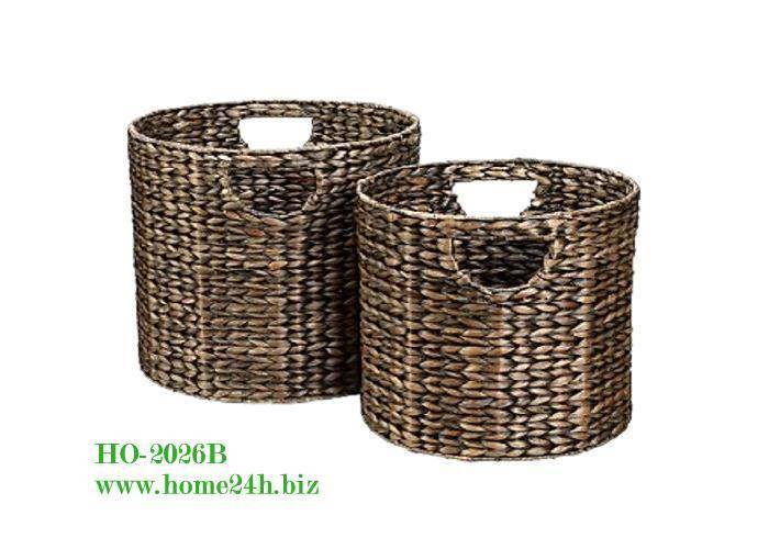 Water hyacinth basket S/2, Cheap price & Best quality