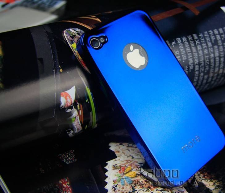 HongKong more brand Colorful Crystal Case-sided mirror case cover ,phone4 set,mobile phone case