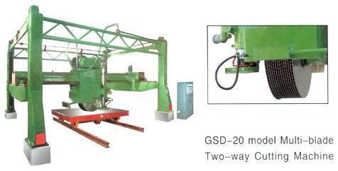 Model GSD20 Multi-blade two-way cutting machine for granite block