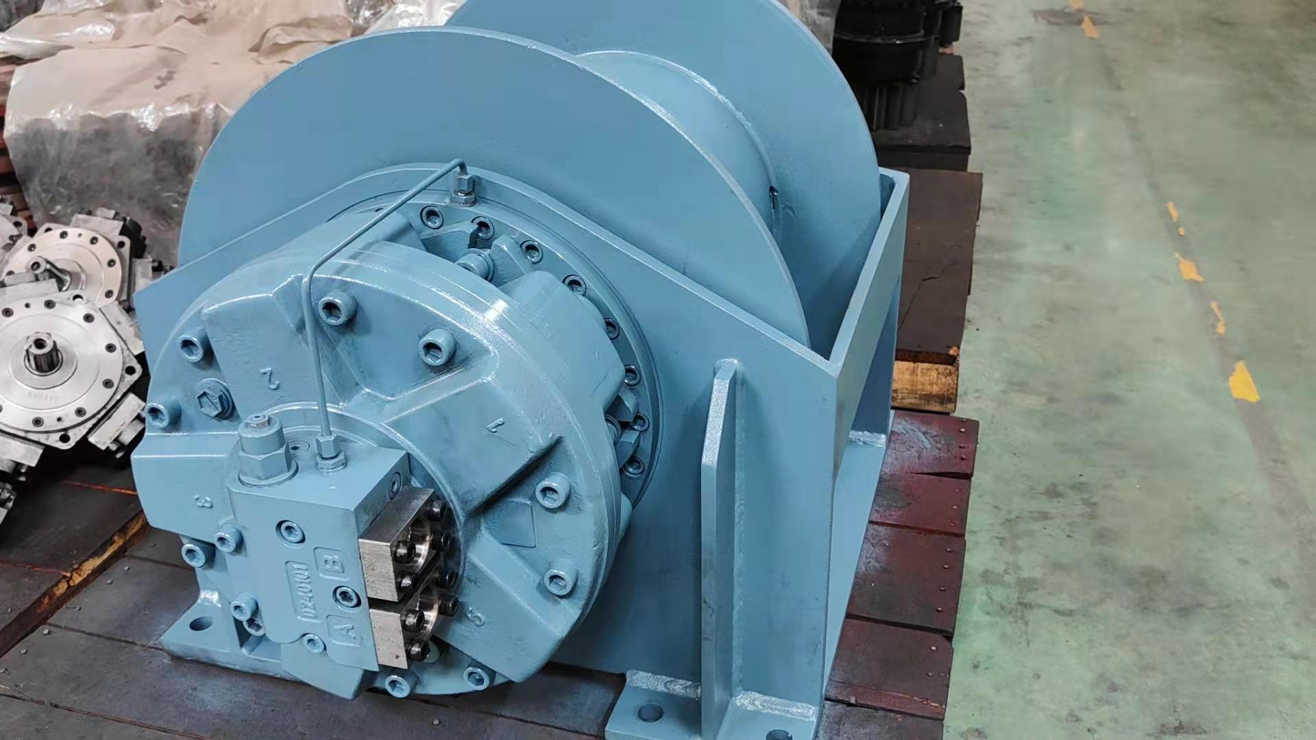 Multi-function hydraulic winch