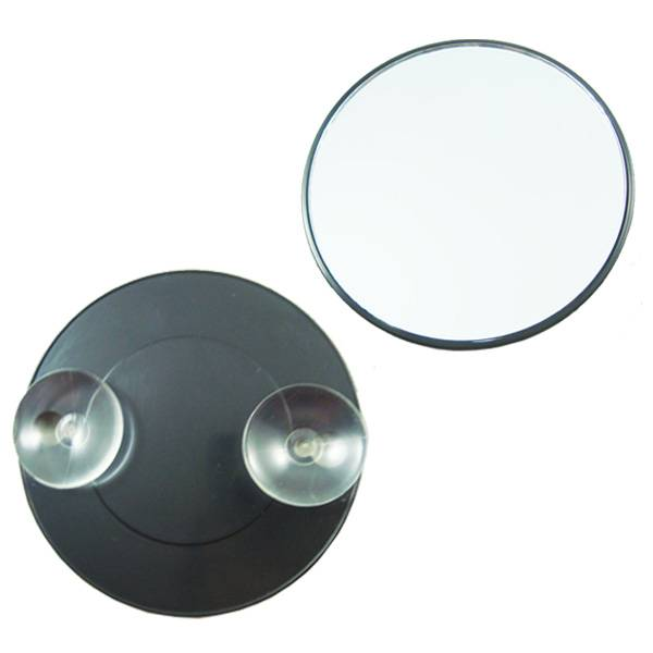 Fogless Wall Mounted Bathroom Mirrors for Shaving Shower Makeup, with 2 Suction Cups Stick to Wall