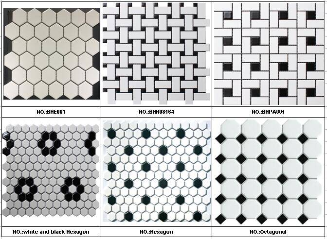 Octagonal and Hexagonal Ceramic mosaic