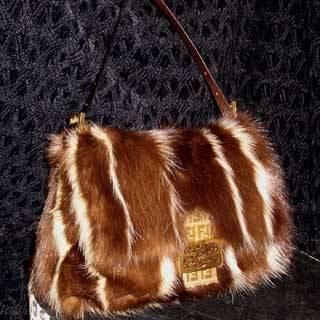 Genuine Mink Fur Handbag