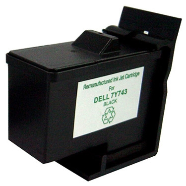 Remanufactured Black Inkjet Cartridge for DELL 7Y743 BK