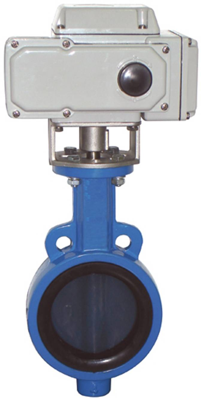 The factory of wafer type butterfly valve