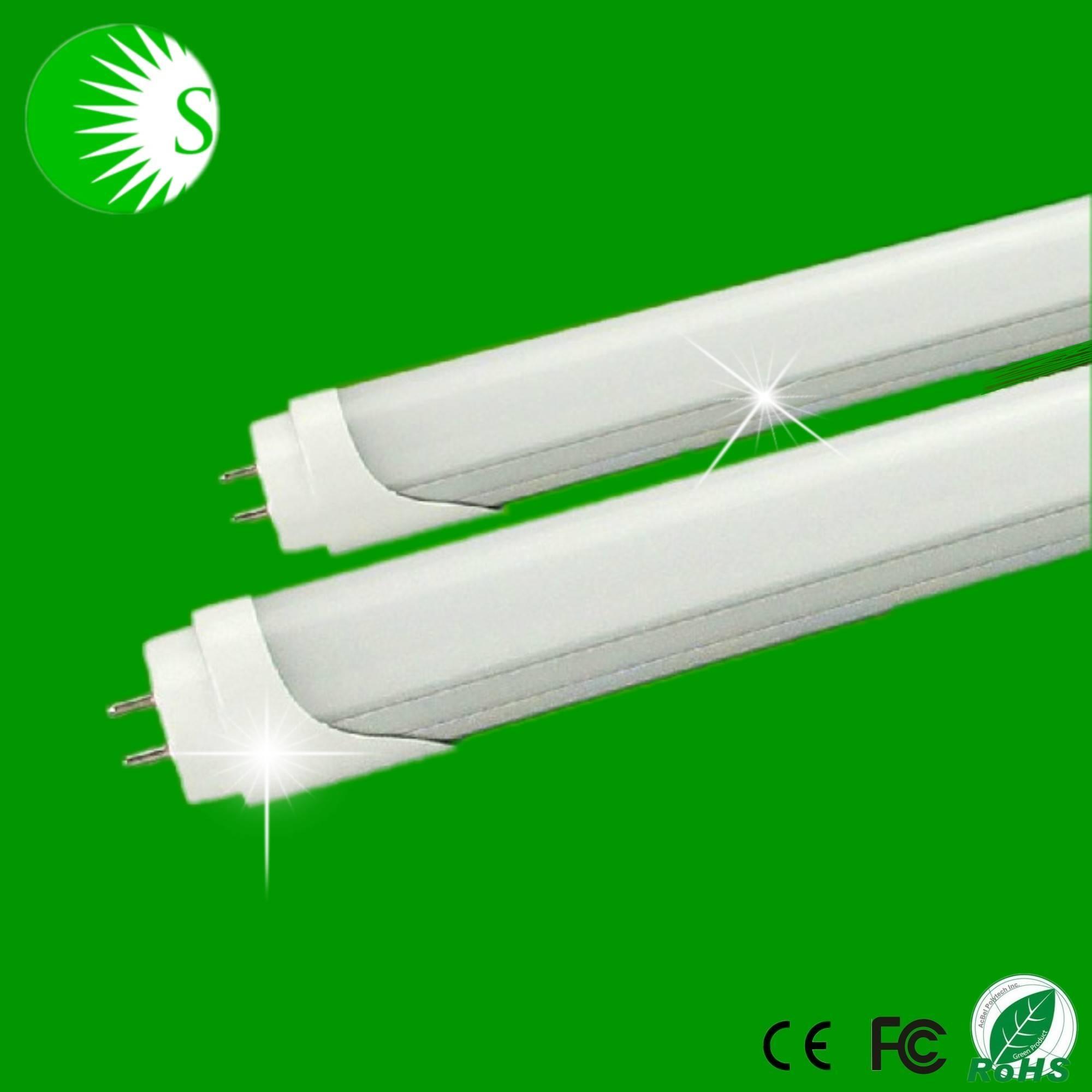 milky & transparent mask wide voltage AC85-265V CRI80 Epister led SMD2835 led fluorescent tube