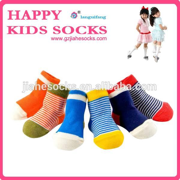 OEM Kids Cotton Ankle Rainbow Colors Sock