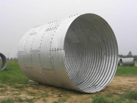corrugated galvanzied steel culvert pipe