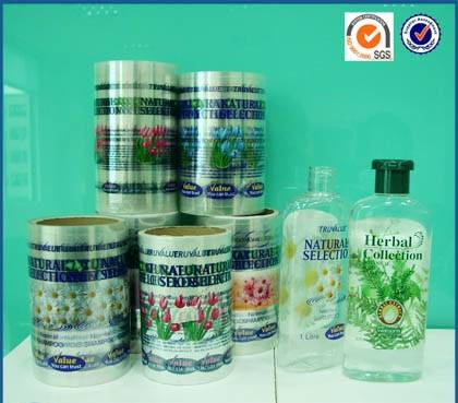 Herbal Collection Body Care Bottle Labels Made From Transparent Eco-friendly Plastic Material