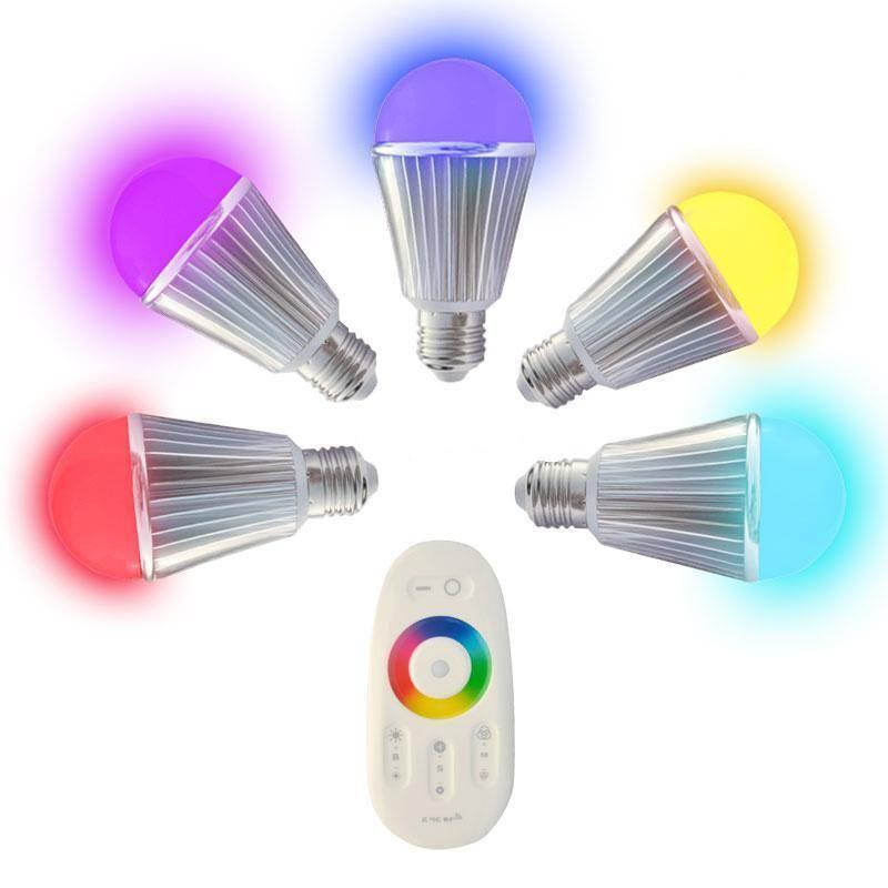 RGB Color changing Mi.light wifi bulb