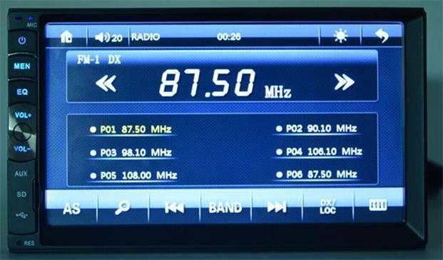 Car MP5 + Bluetooth, Radio