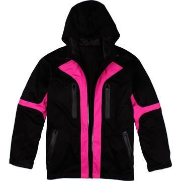 Men's 3-Layer Laminated Hoodie Softshell Jacket, Hiking Jacket, Camping Jacket