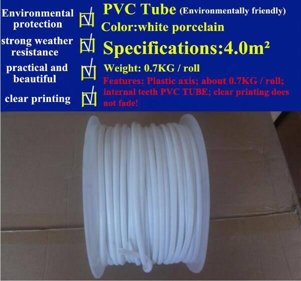 Pvc Tube white Pvc casing For cable marker ID printer Ferrule Printing Machine