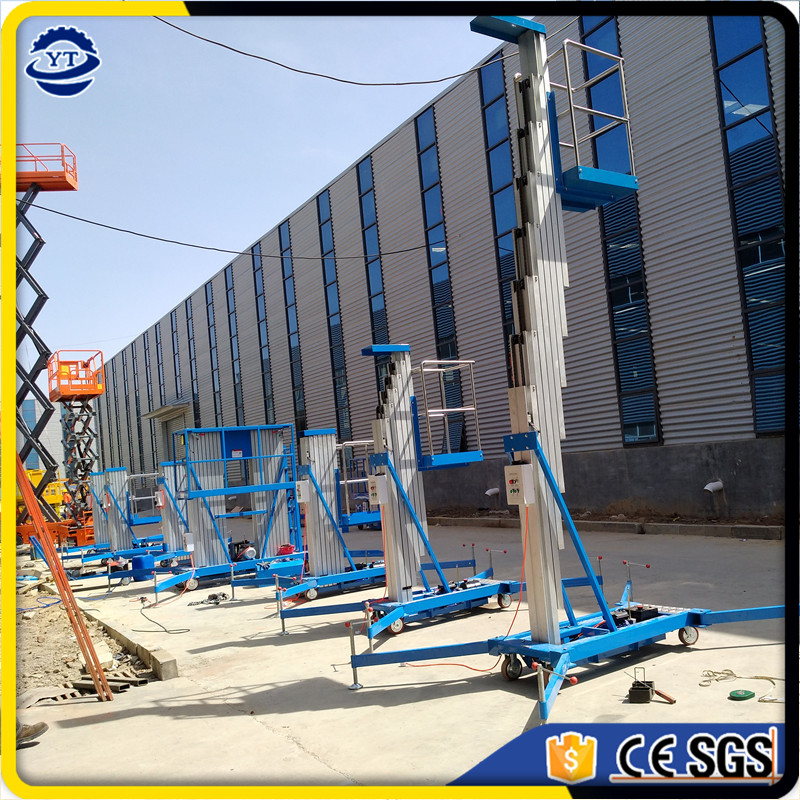 china manufacture CE approved single double mast aluminum alloy aerial man lift table platform