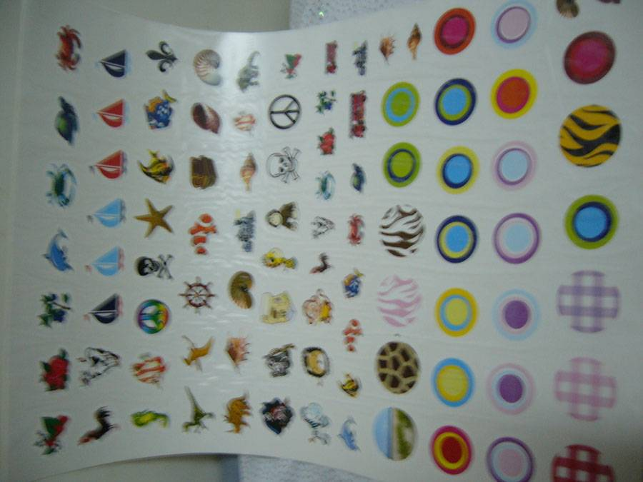 WATER-SLIDE TRANSFER PRINTED PAPER DECAL STICKER
