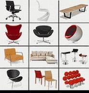Ball chair/Nelson bench/panton chair/eames lounge chair