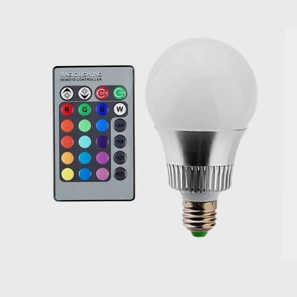High efficient Most popular multi color e27 led rgb bulb