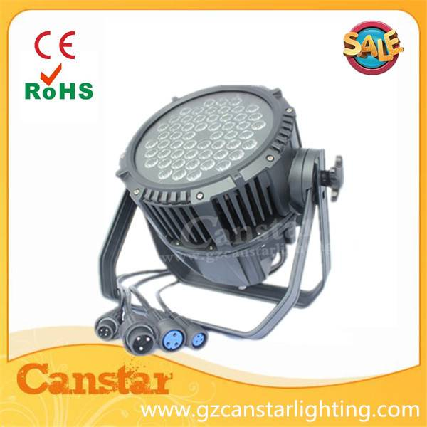IP65 outdoor led par light 54x3w RGBW 4 in 1