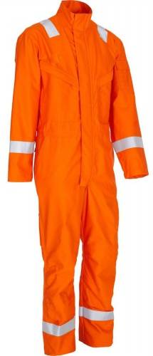 fire proof coverall with trim