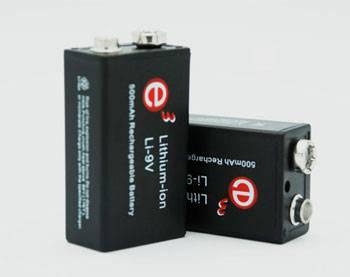 Soshine Li-Ion New 9V 500mAh Rechargeable Battery