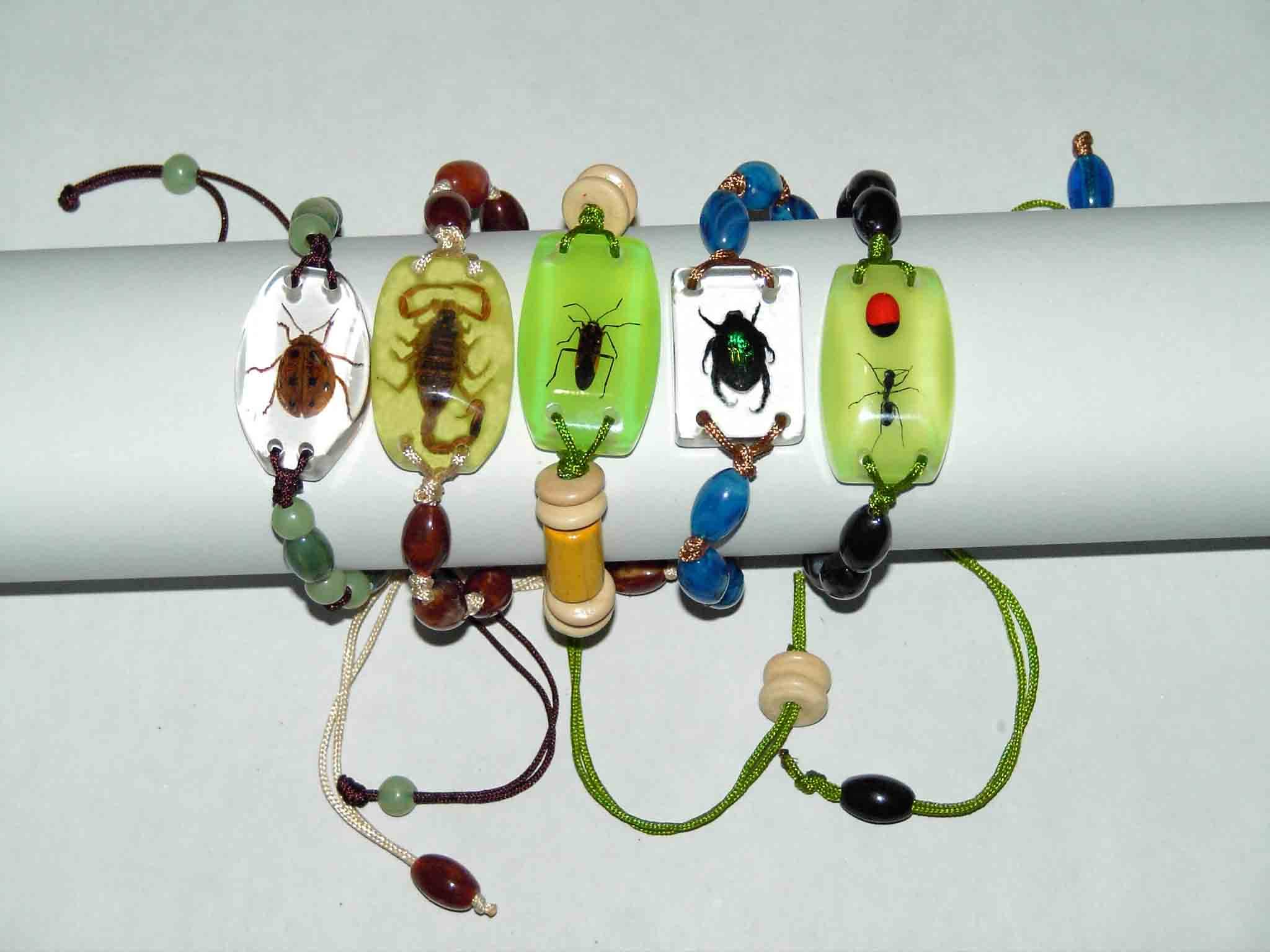 Insect Artificial Amber Decoration For Wrist Rings, Key Chains, Mobile Phone