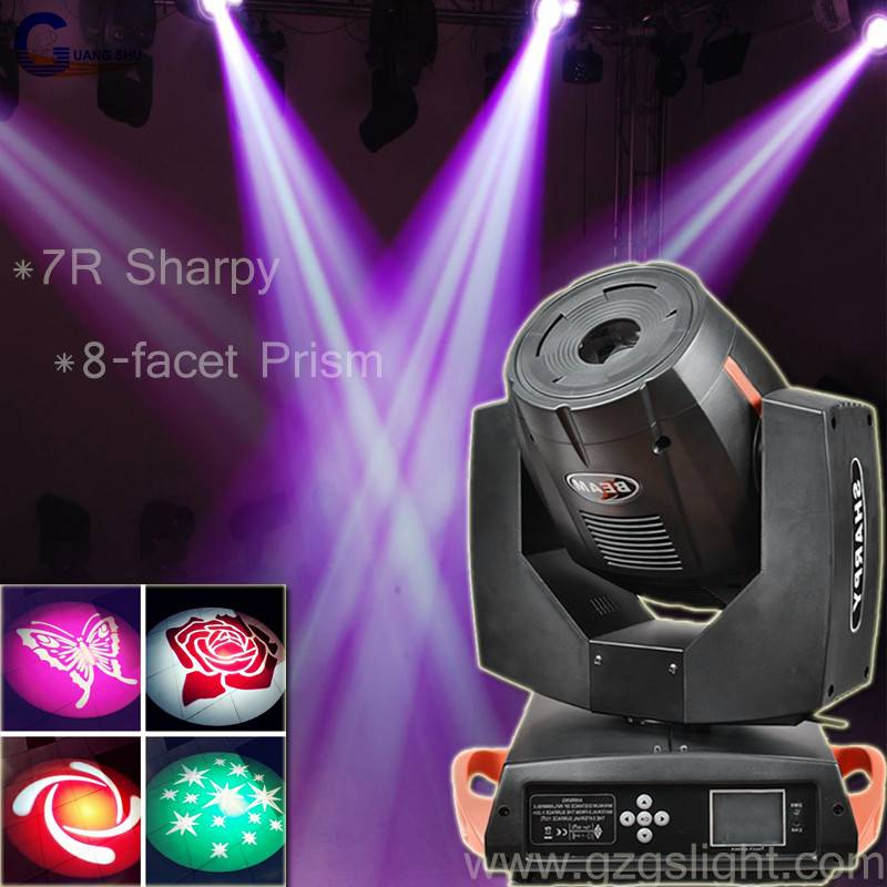 7R Sharpy 230w beam moving head light for stage event show