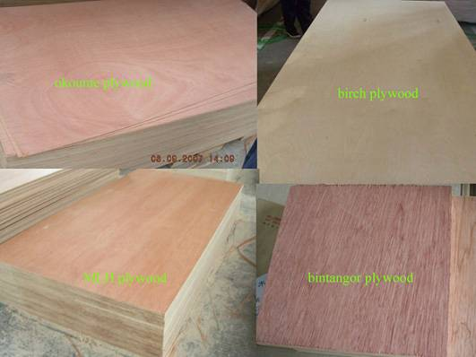 2-30mm12202440 Poplar Plywood with difference veneer