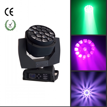 19&15w bee eye moving head zoom light