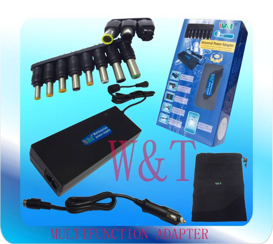 90W multifunctional laptop adapter