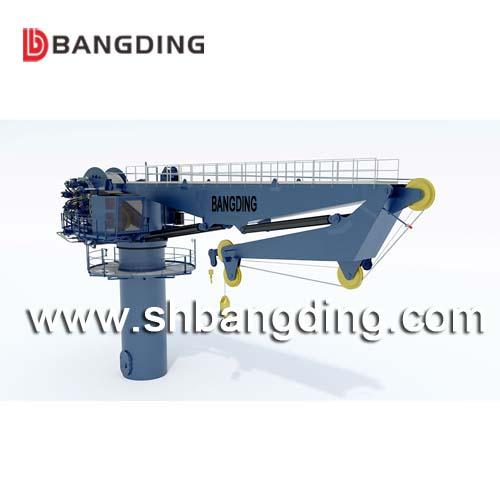 Folding boom hydraulic knuckle boom ship deck crane