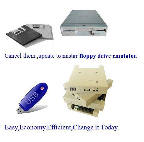 virtual floppy drive for embroidery machinery