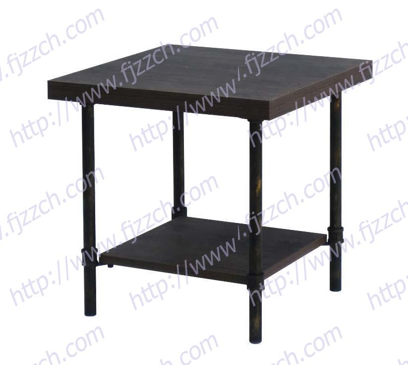 Modern Style Metal leg side Table with MDF wood top