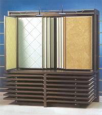 steel tile display rack