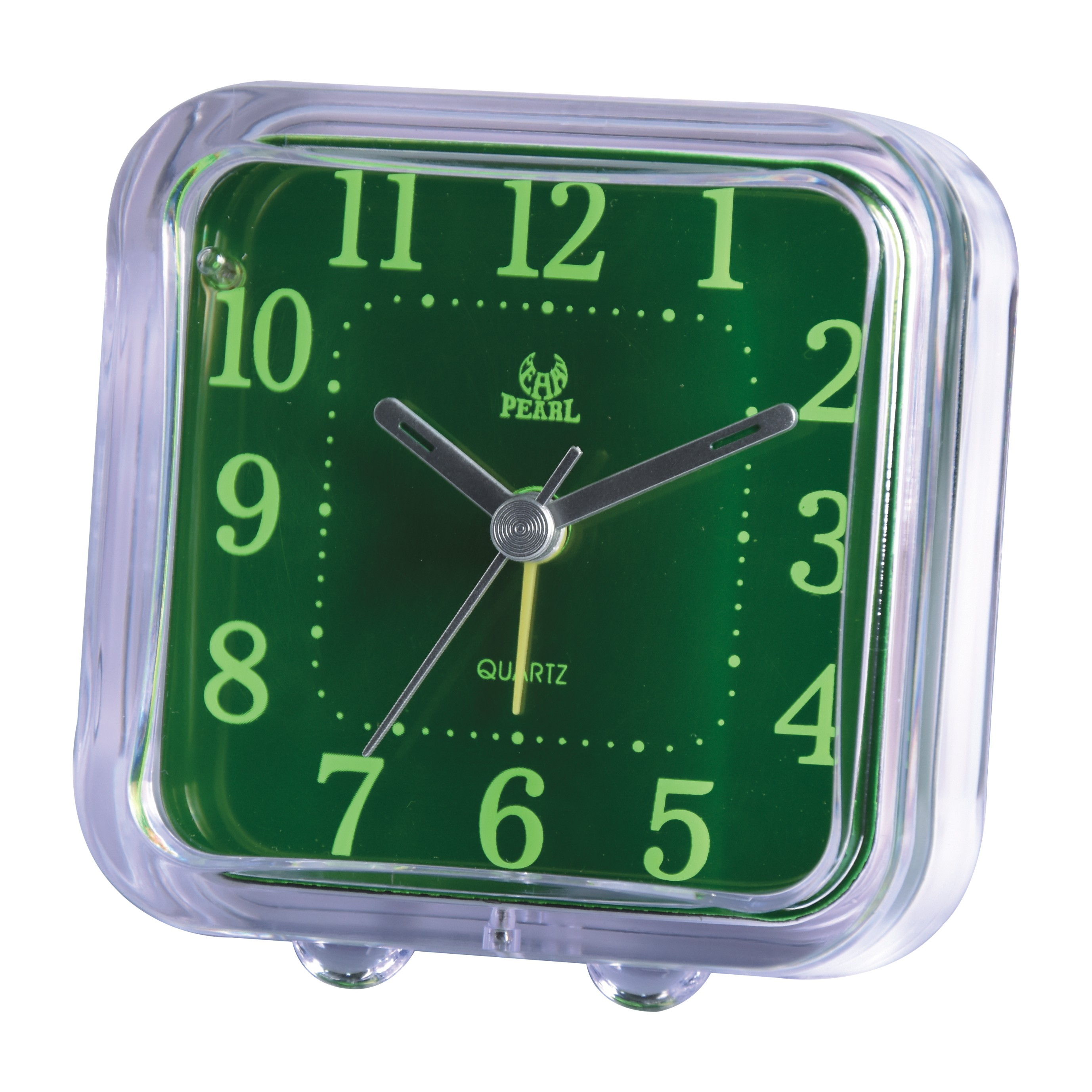 factory sheaper mini table clock with green clock face for promotion gift