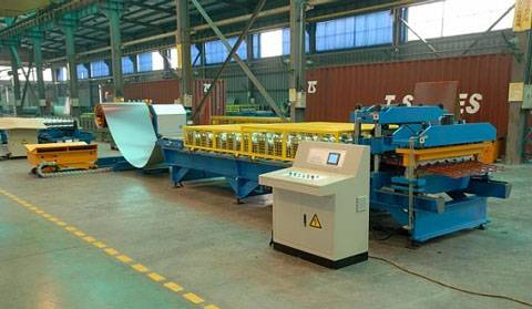 Aluminium Step Tiles Corrugating Machine For Sale