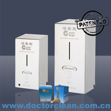 Stainless steel foam soap dispenser, automatic foaming sanitizer dispenser