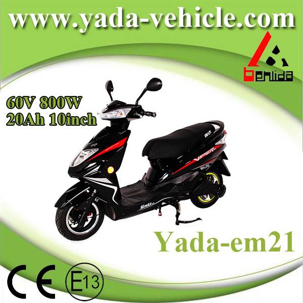 60v 800w 20ah 10inch disc brake mini sport style electric scooter motorcycle (yada em21)